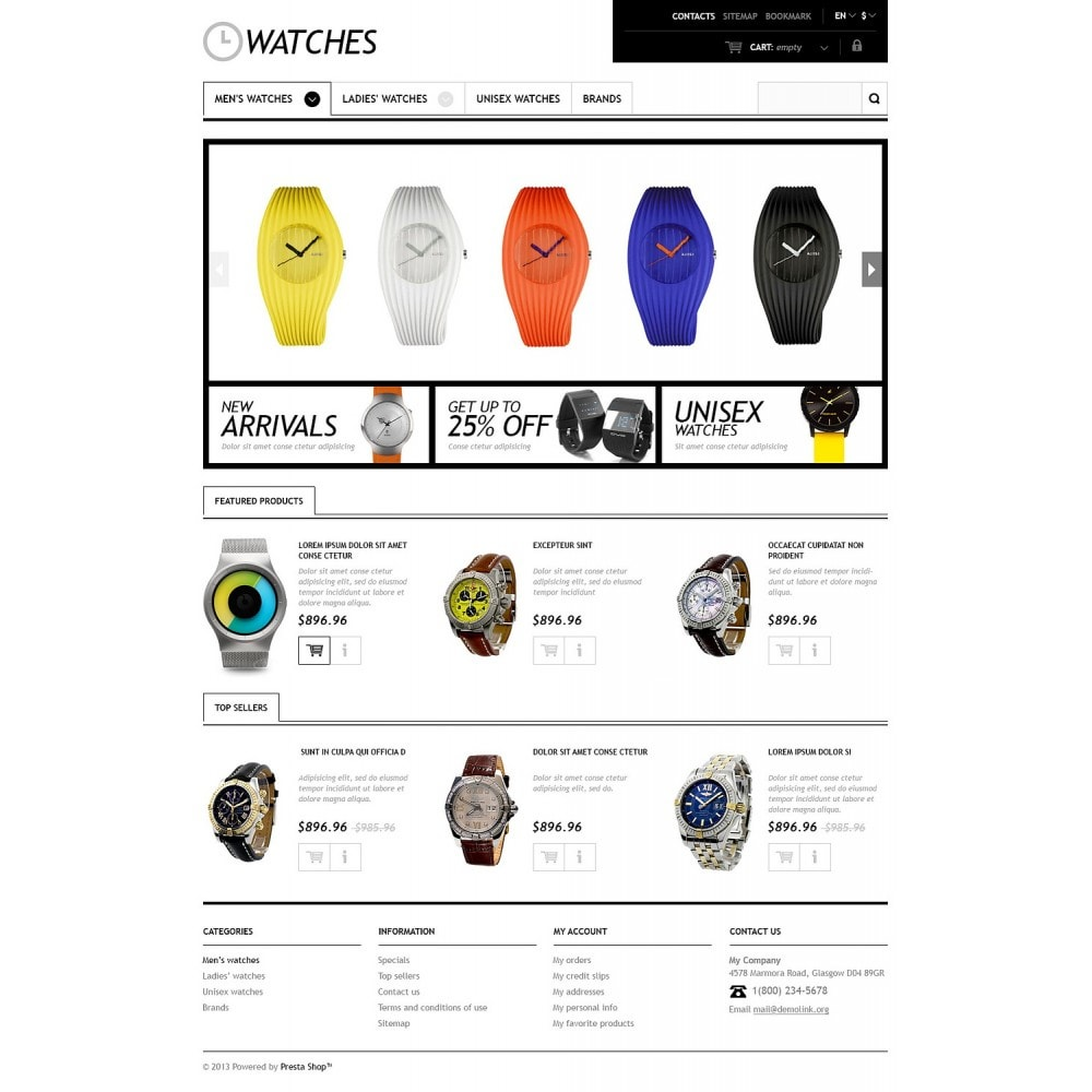 theme - Moda & Calçados - Responsive Watches Store - 2