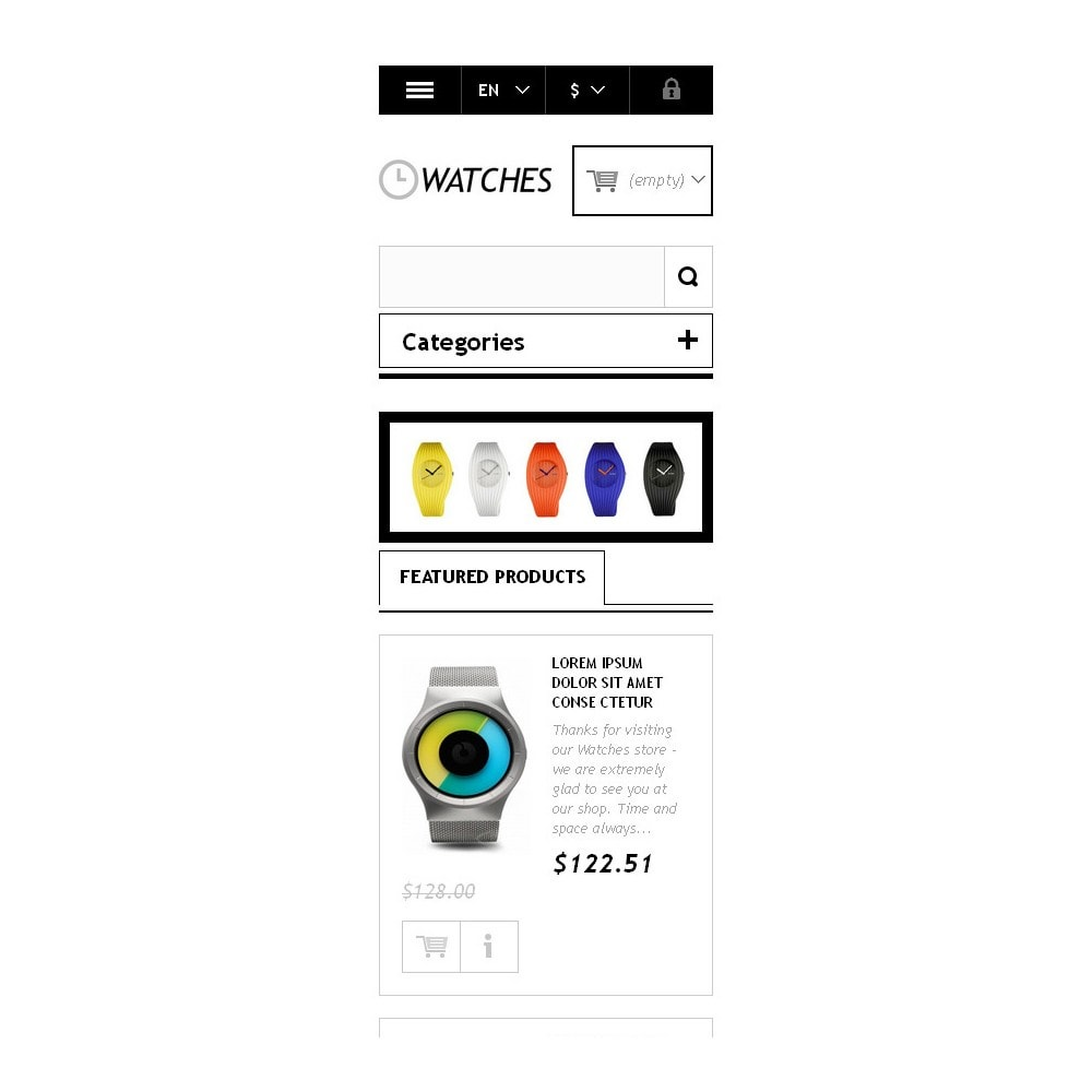 theme - Moda & Calçados - Responsive Watches Store - 10