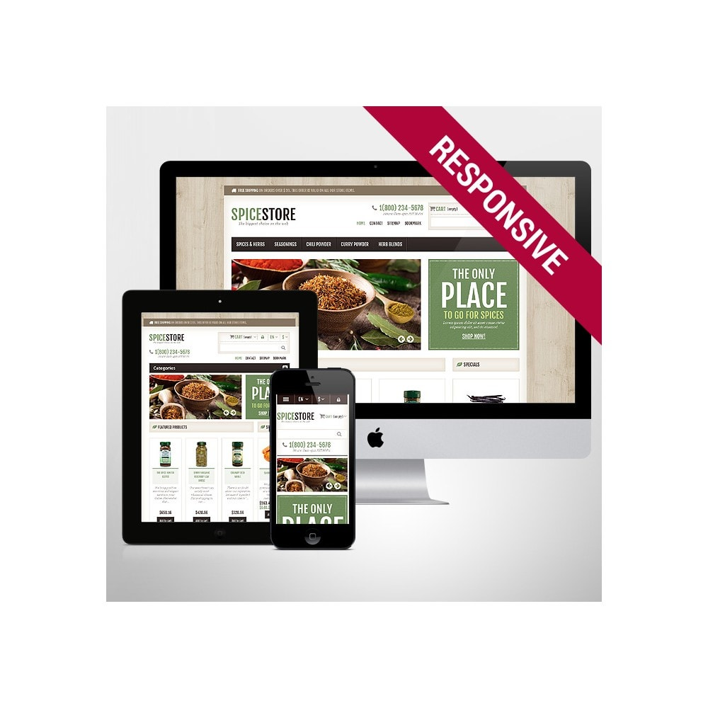 theme - Gastronomía y Restauración - Responsive Spice Store - 1