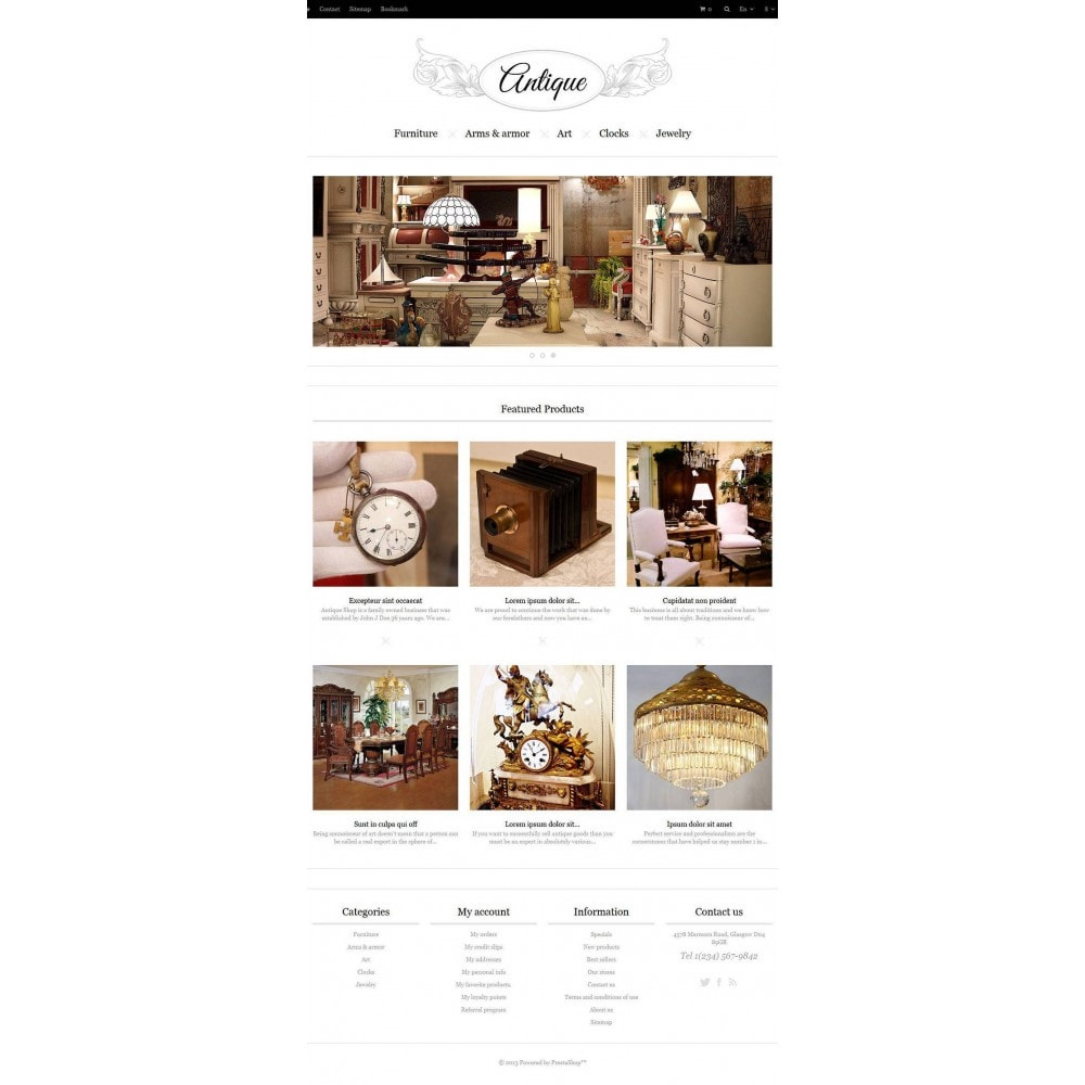 Responsive Antiques Store