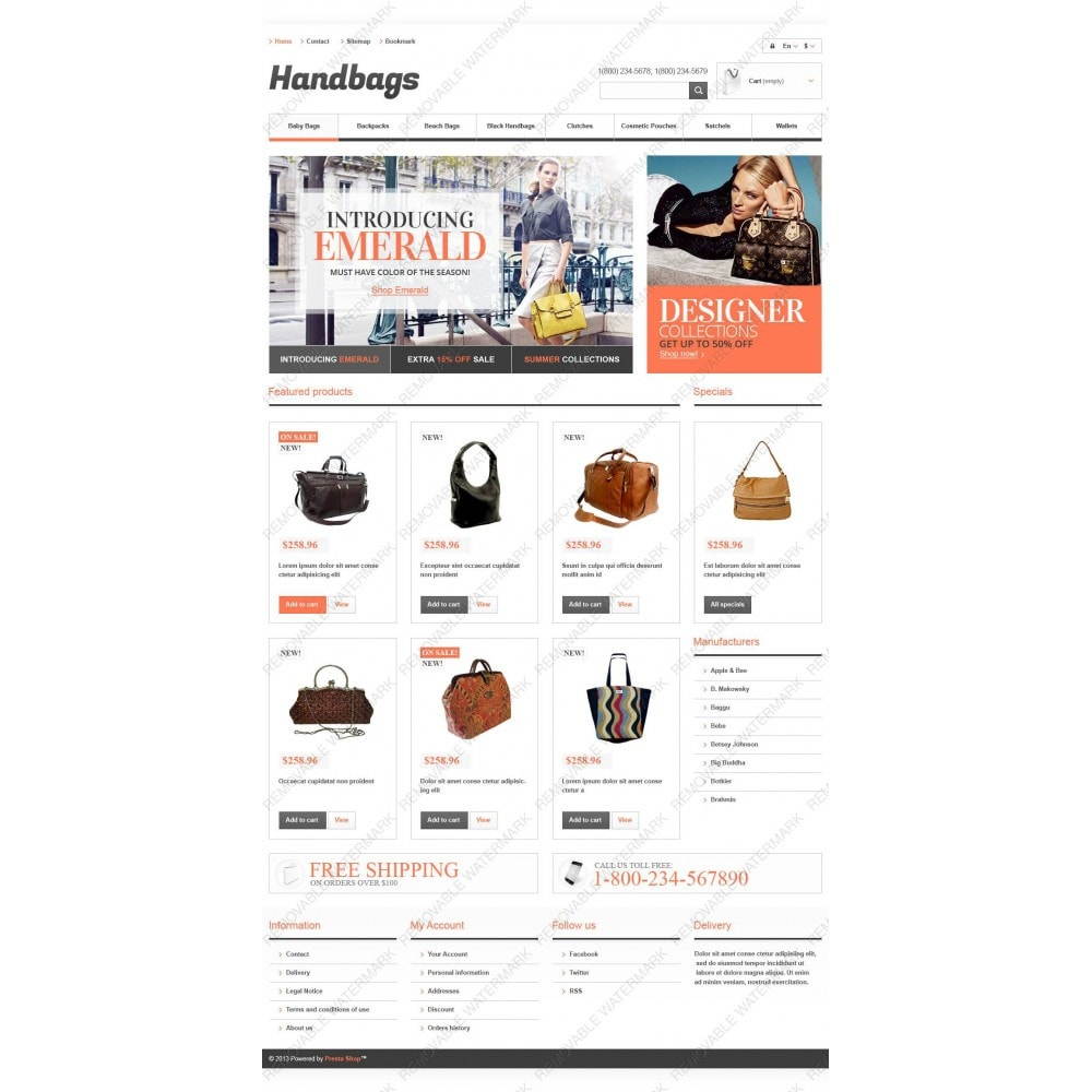 theme - Mode & Chaussures - Responsive Handbags Boutique - 3