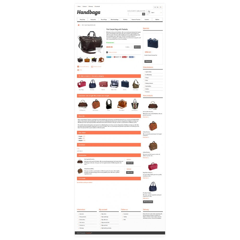 theme - Mode & Chaussures - Responsive Handbags Boutique - 6