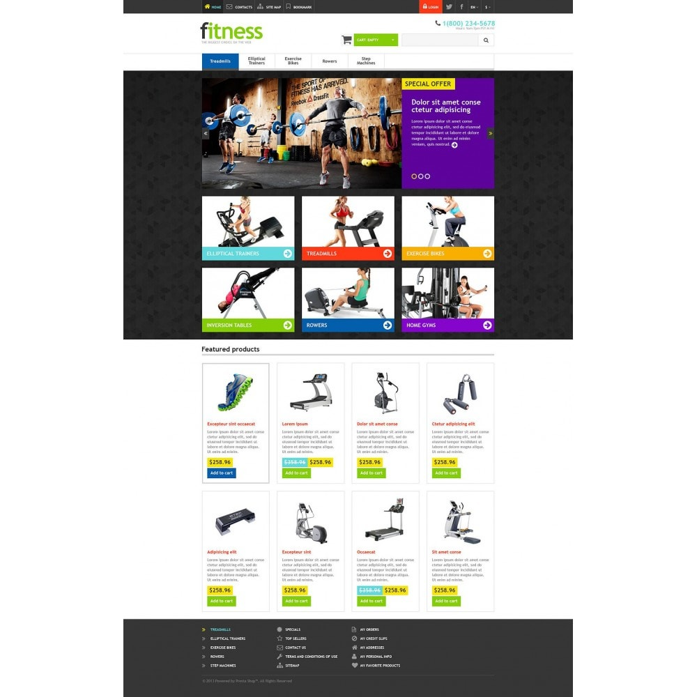 theme - Deportes, Actividades y Viajes - Responsive Fitness Store - 2