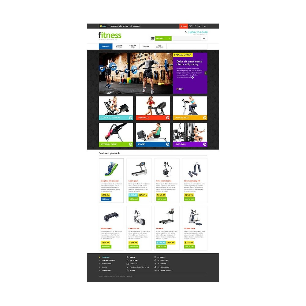 theme - Sport, Loisirs & Voyage - Responsive Fitness Store - 10