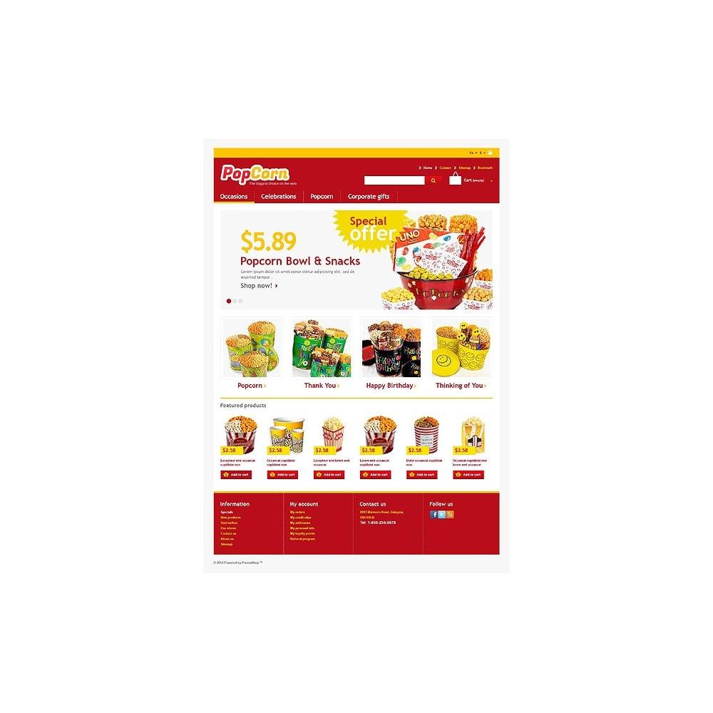 theme - Alimentos & Restaurantes - Responsive Pop Corn Store - 1