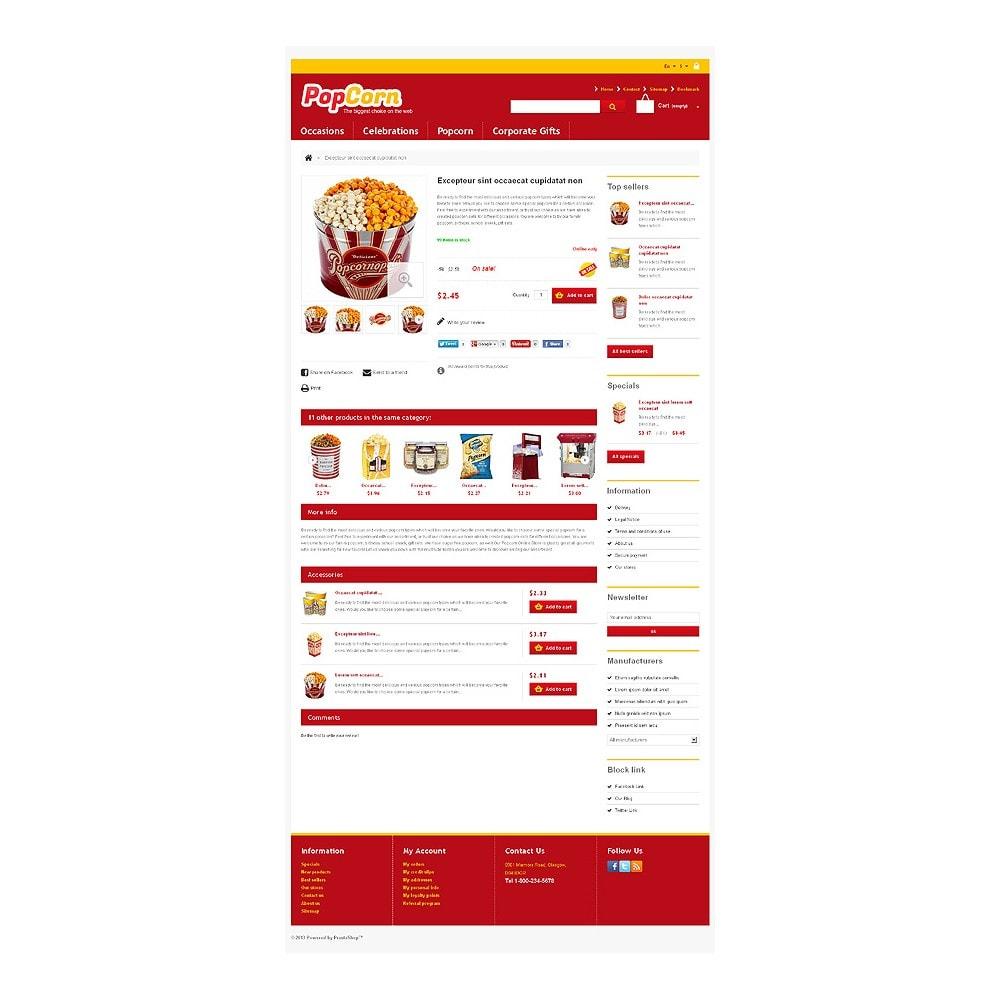 theme - Food & Restaurant - Responsive Pop Corn Store - 7
