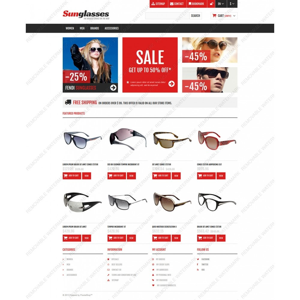 theme - Fashion & Shoes - Responsive Sunglasses Store - 5