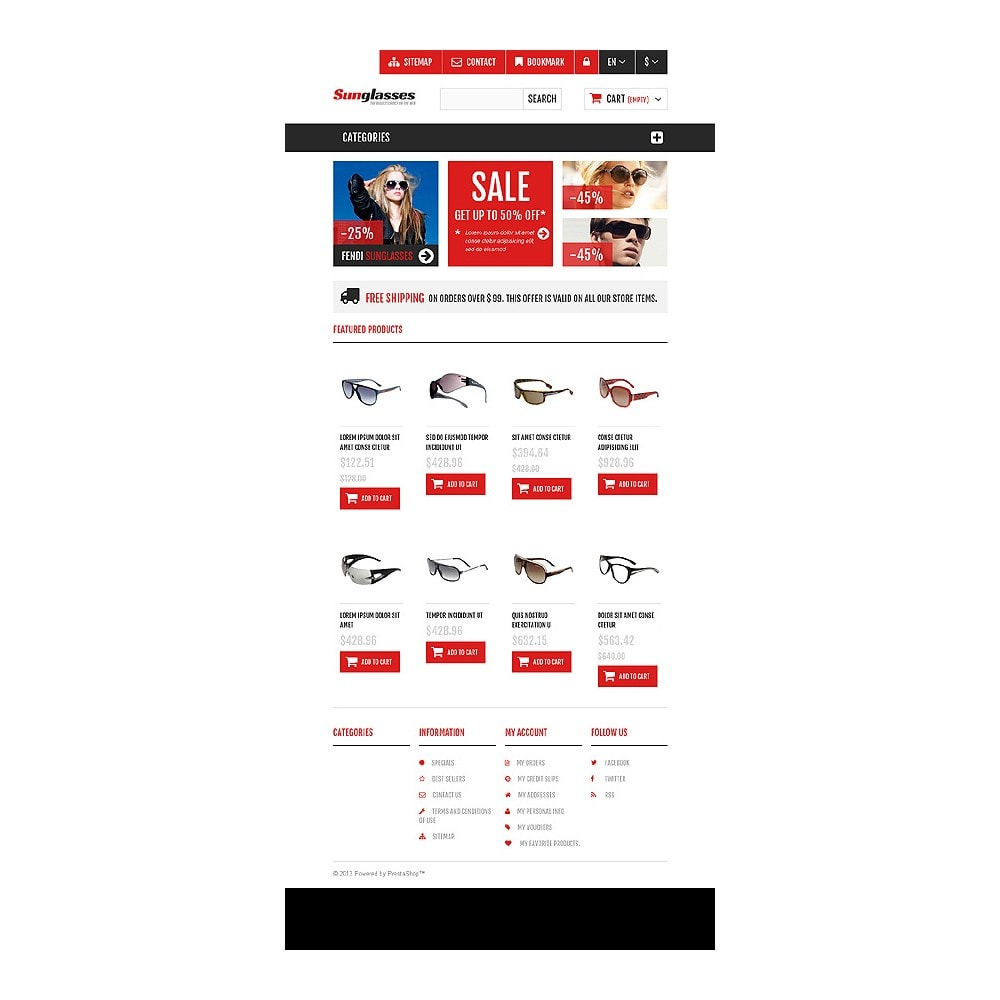 theme - Fashion & Shoes - Responsive Sunglasses Store - 7