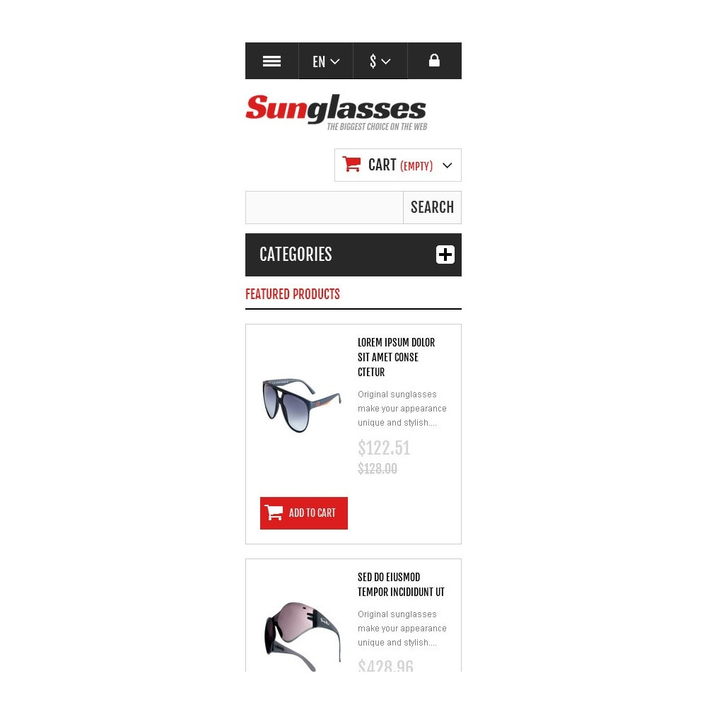 theme - Fashion & Shoes - Responsive Sunglasses Store - 9