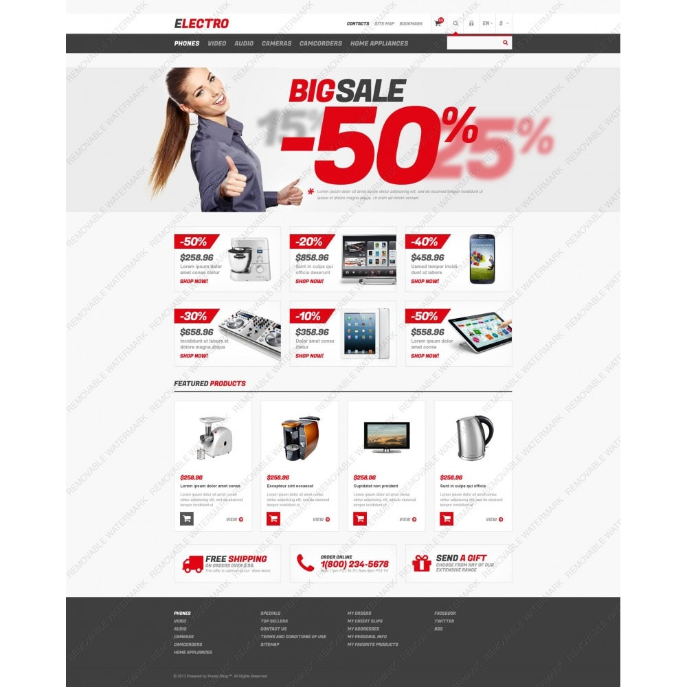 theme - Электроника и компьютеры - Responsive Electro Store - 5