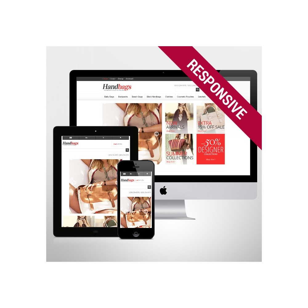 theme - Mode & Chaussures - Responsive Handbags Store - 1