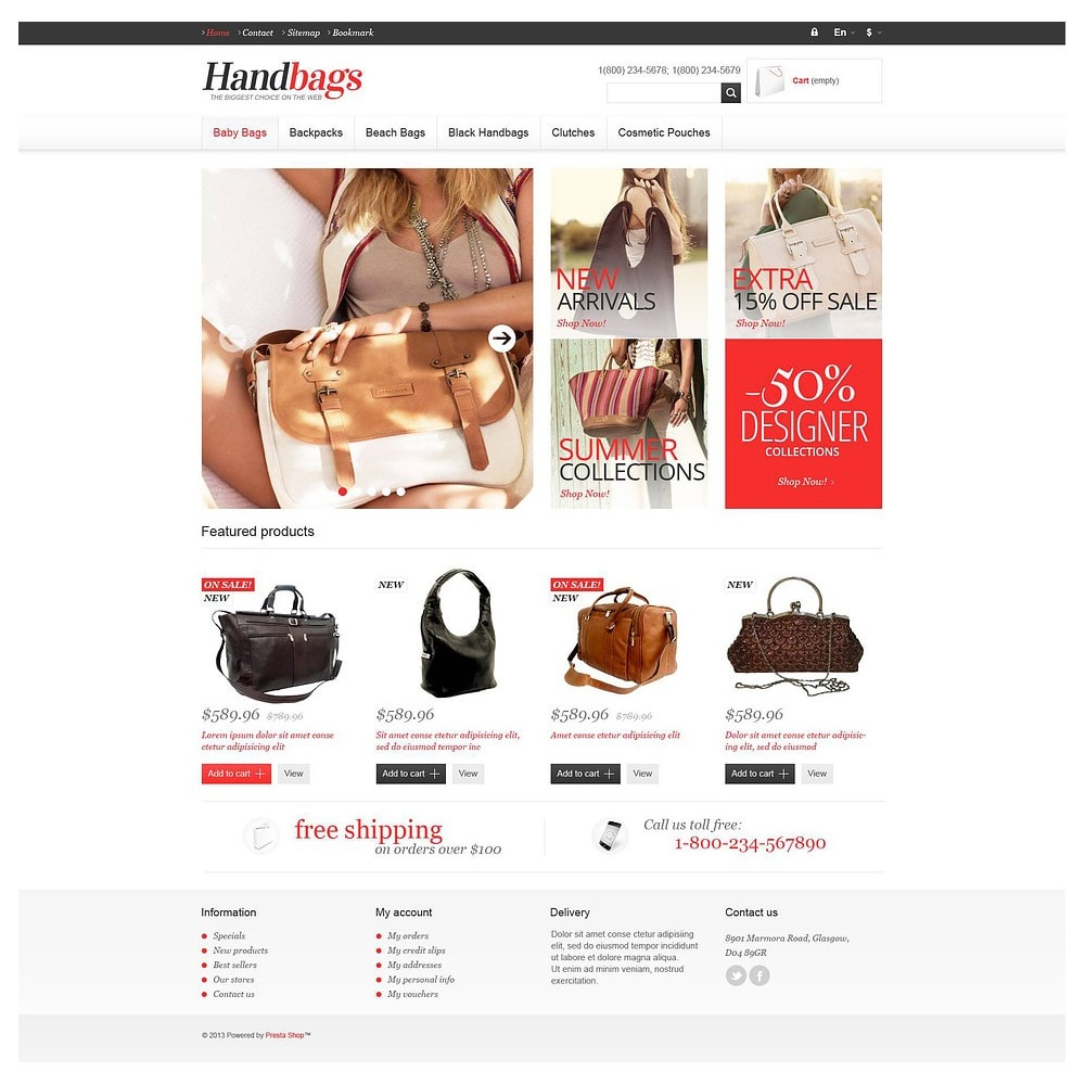 theme - Fashion & Shoes - Responsive Handbags Store - 2