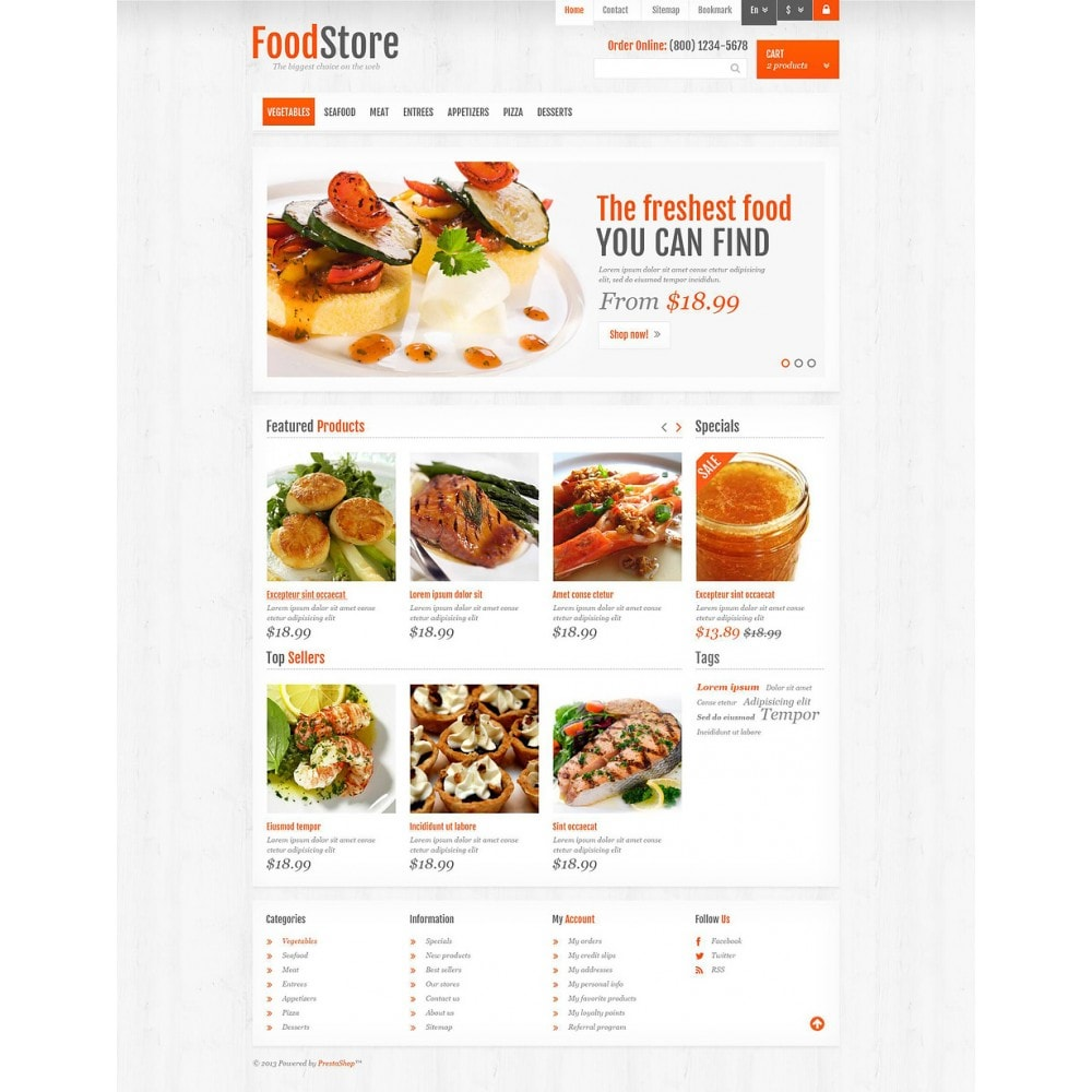 theme - Alimentation & Restauration - Responsive Food Store - 2
