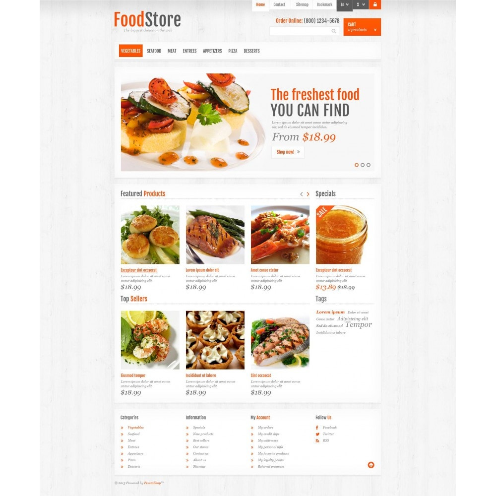 theme - Food & Restaurant - Responsive Food Store - 4