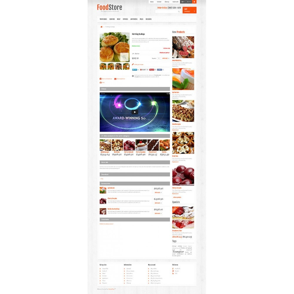 theme - Alimentation & Restauration - Responsive Food Store - 6