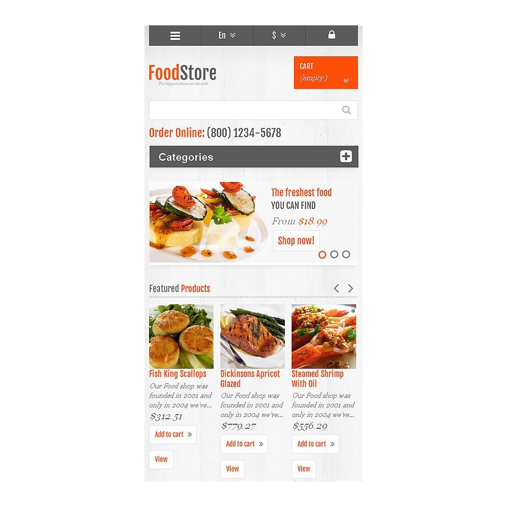 theme - Alimentation & Restauration - Responsive Food Store - 8