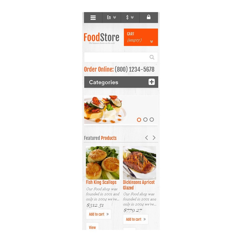 theme - Food & Restaurant - Responsive Food Store - 9