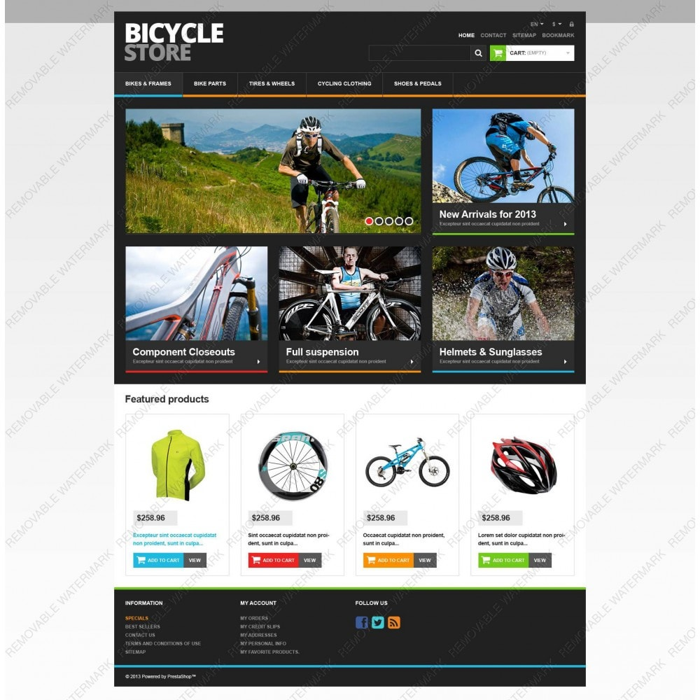 theme - Sports, Activities & Travel - Responsive Bicycle Store - 3