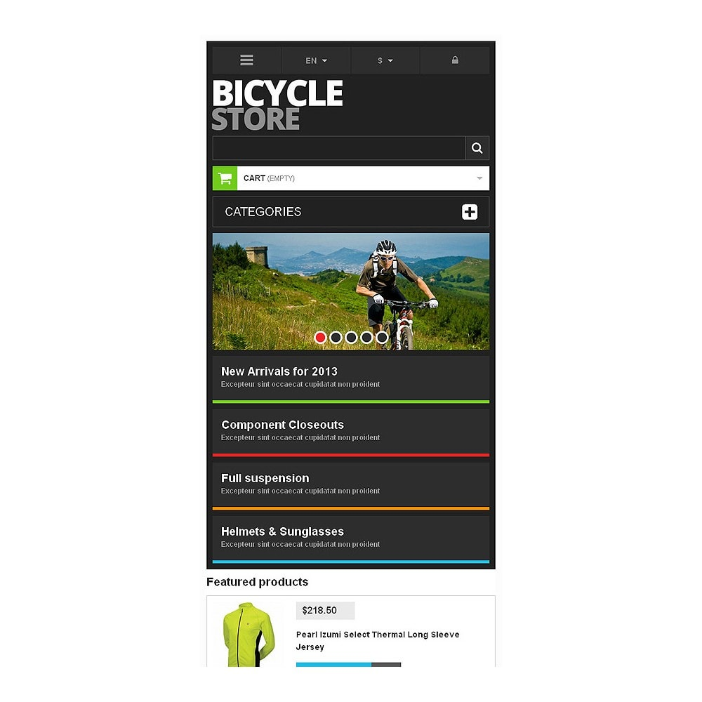 theme - Sports, Activities & Travel - Responsive Bicycle Store - 8