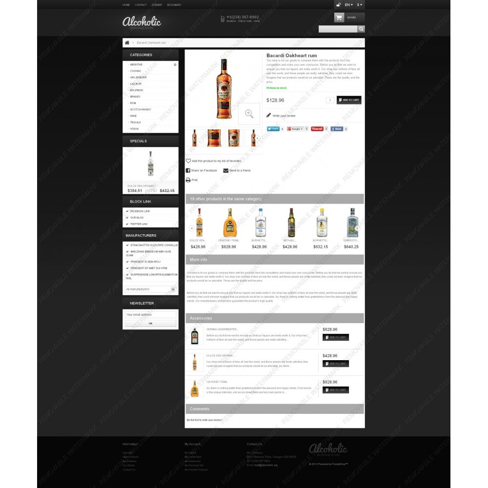 theme - Lebensmittel & Restaurants - Alcoholic Beverages Store - 2