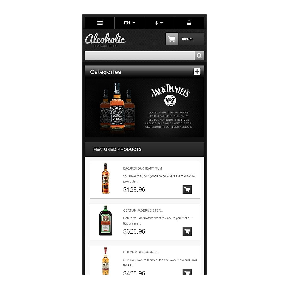theme - Lebensmittel & Restaurants - Alcoholic Beverages Store - 9