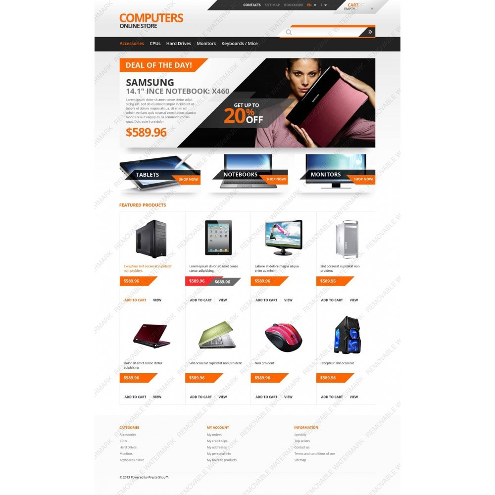 theme - Electrónica e High Tech - Responsive Computers Store - 3