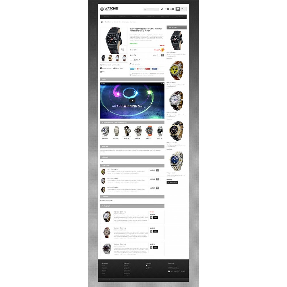 theme - Mode & Chaussures - Responsive Watch Store - 7