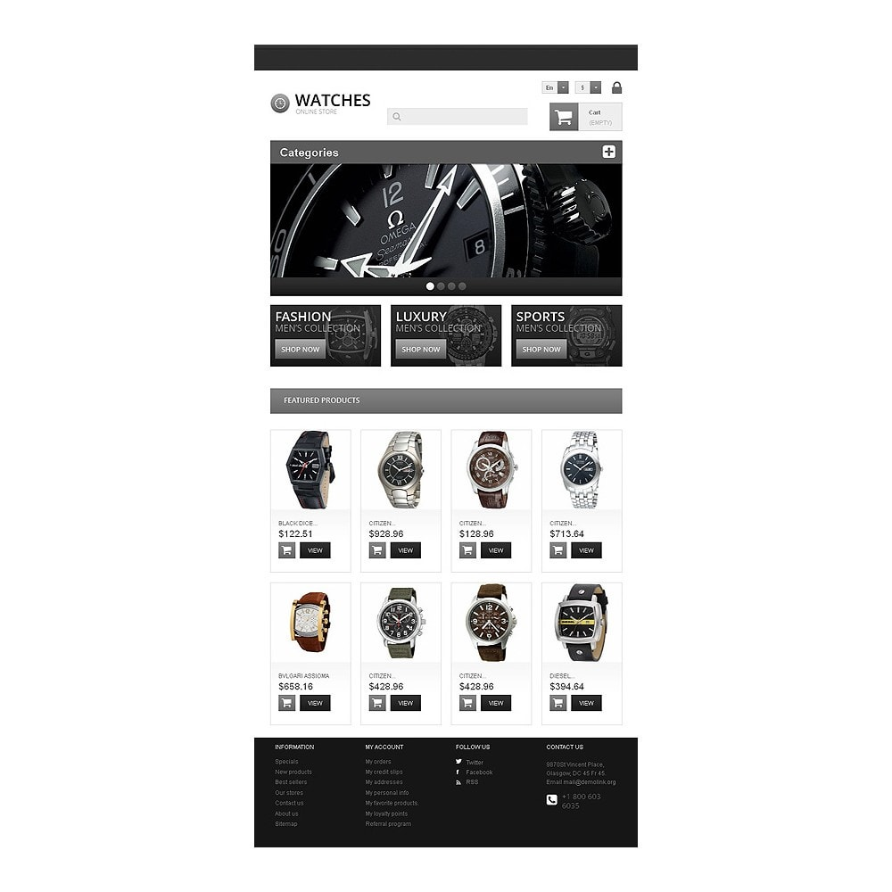 theme - Mode & Chaussures - Responsive Watch Store - 8