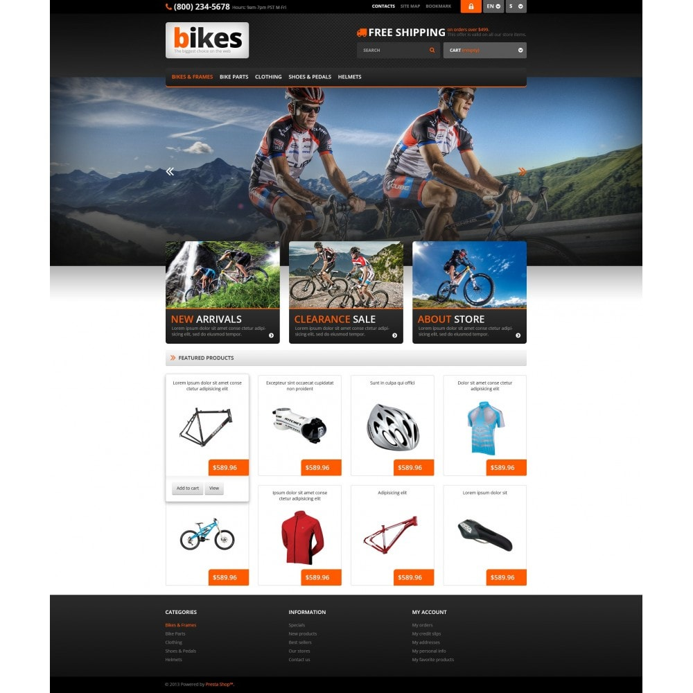 theme - Sport, Loisirs & Voyage - Responsive Bikes Store - 4