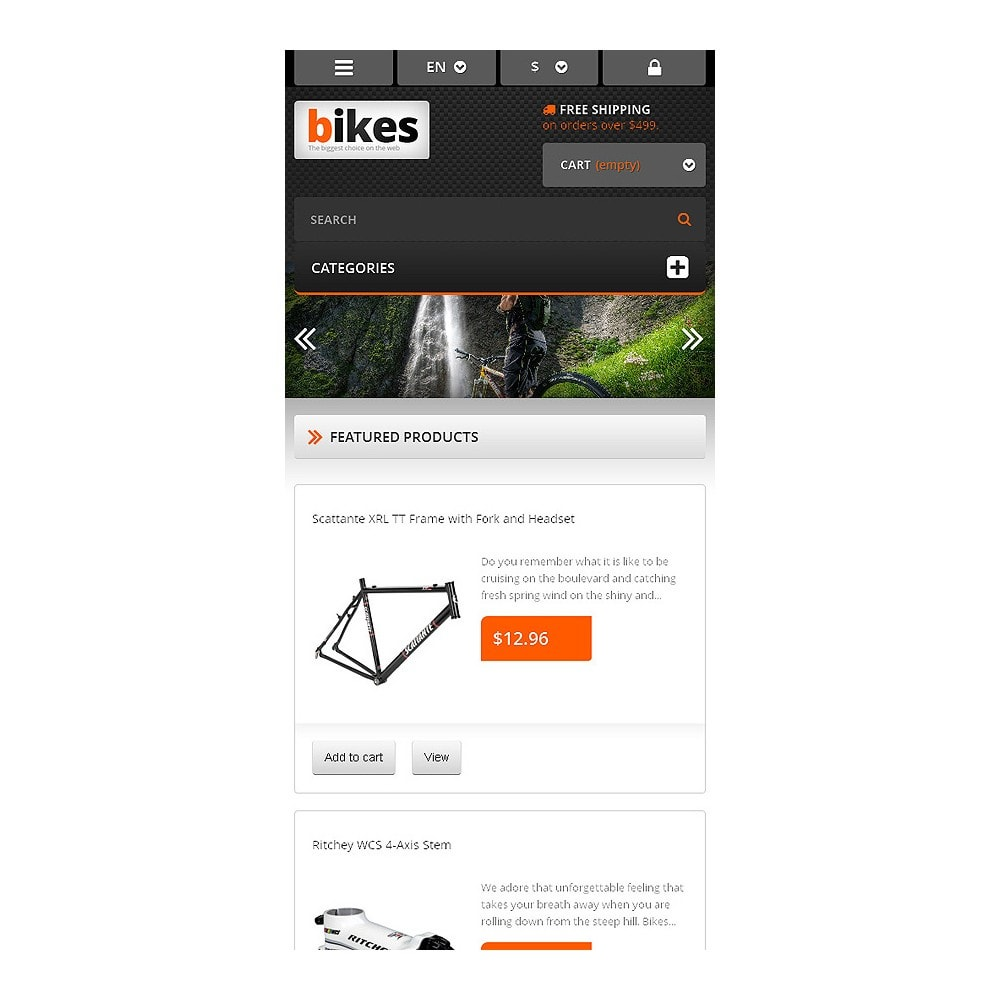 theme - Sport, Loisirs & Voyage - Responsive Bikes Store - 8