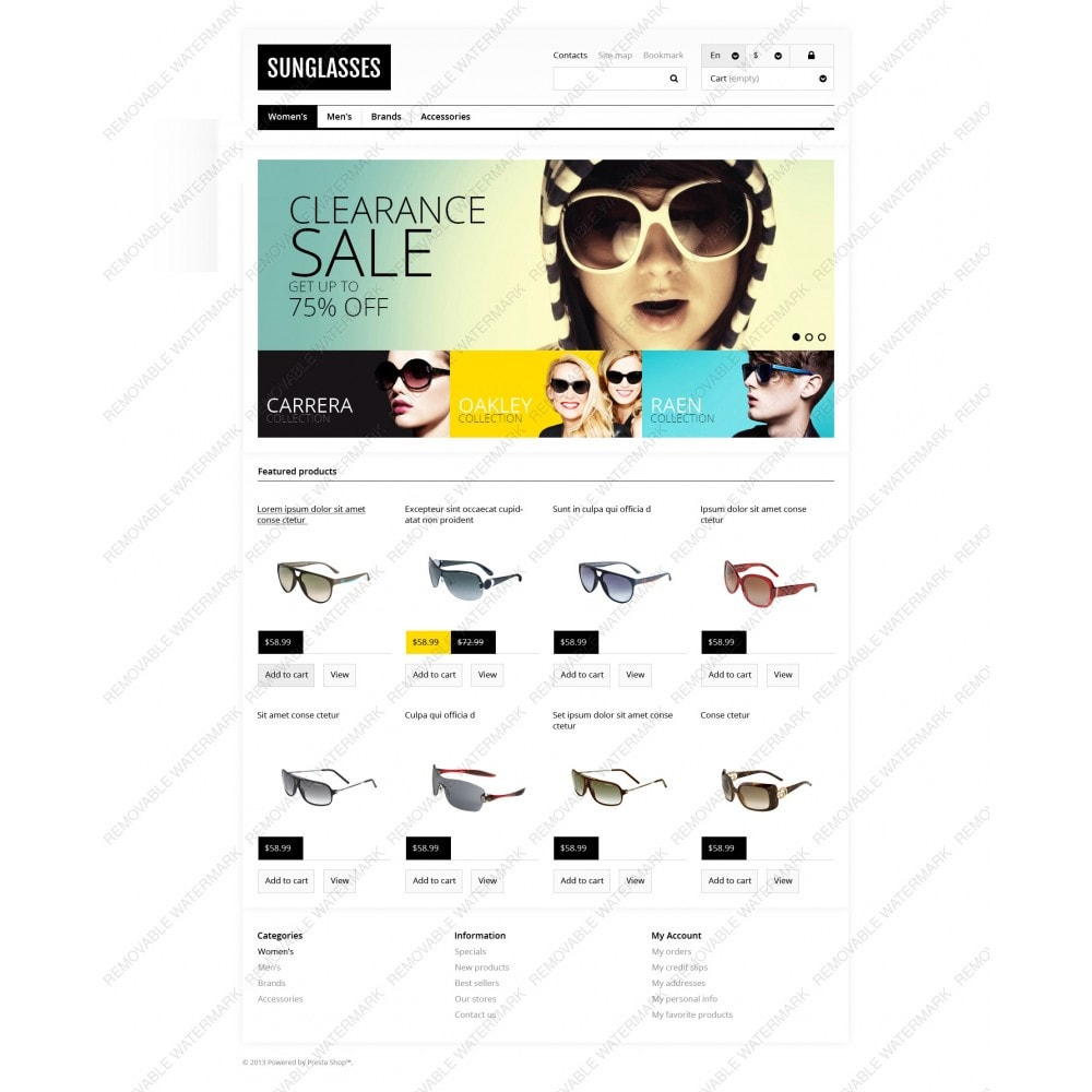 theme - Moda & Calzature - Responsive Sunglasses Store - 3