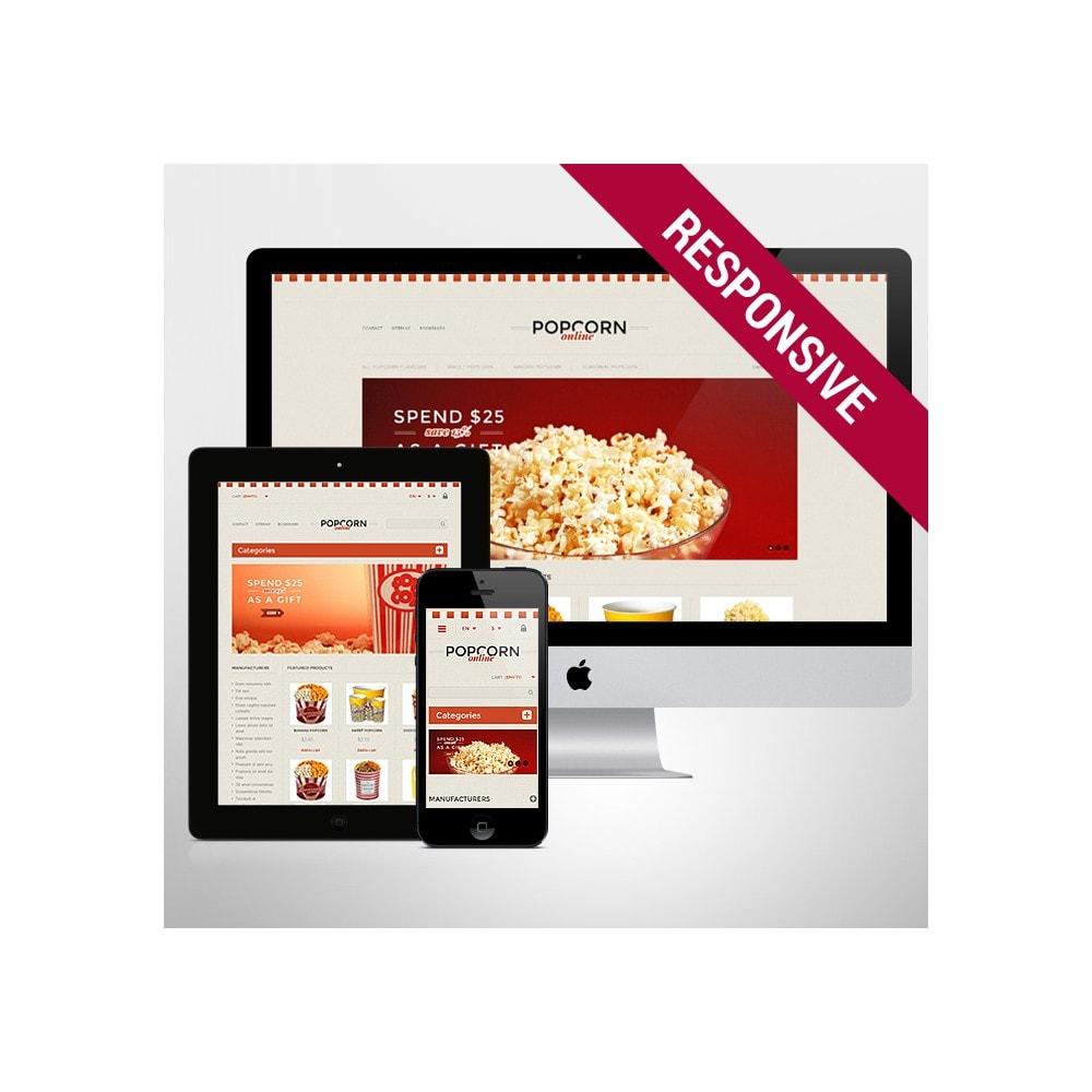 theme - Продовольствие и рестораны - Responsive Popcorn Store - 1