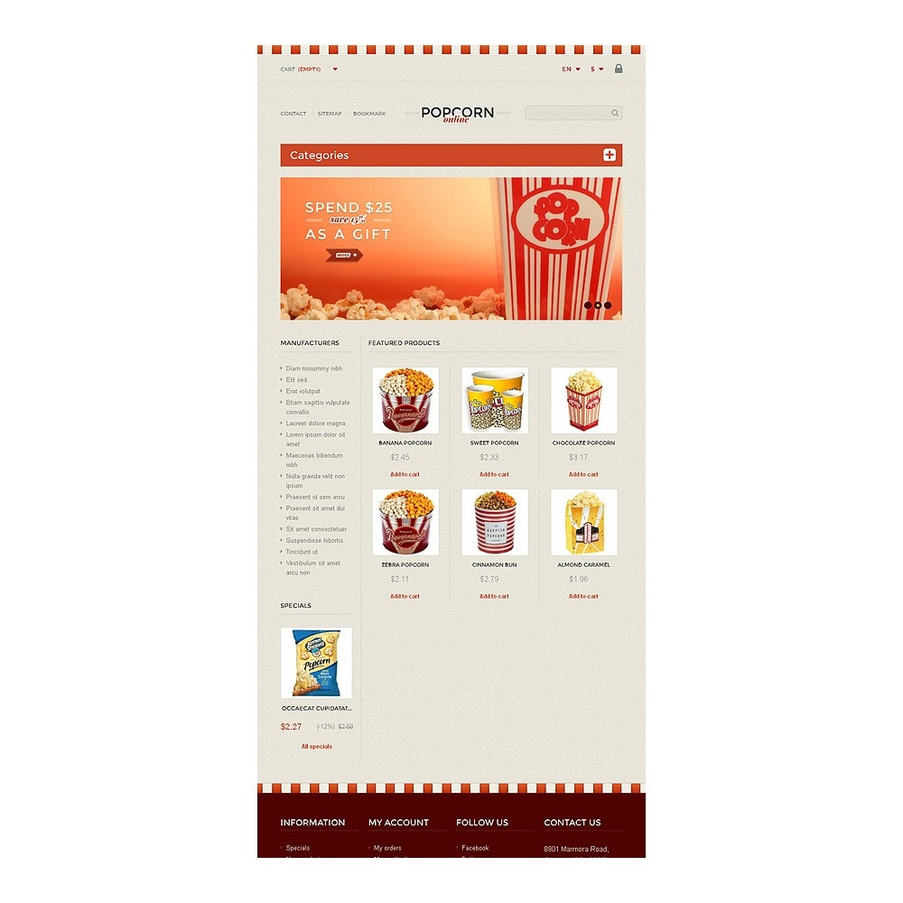 theme - Продовольствие и рестораны - Responsive Popcorn Store - 7