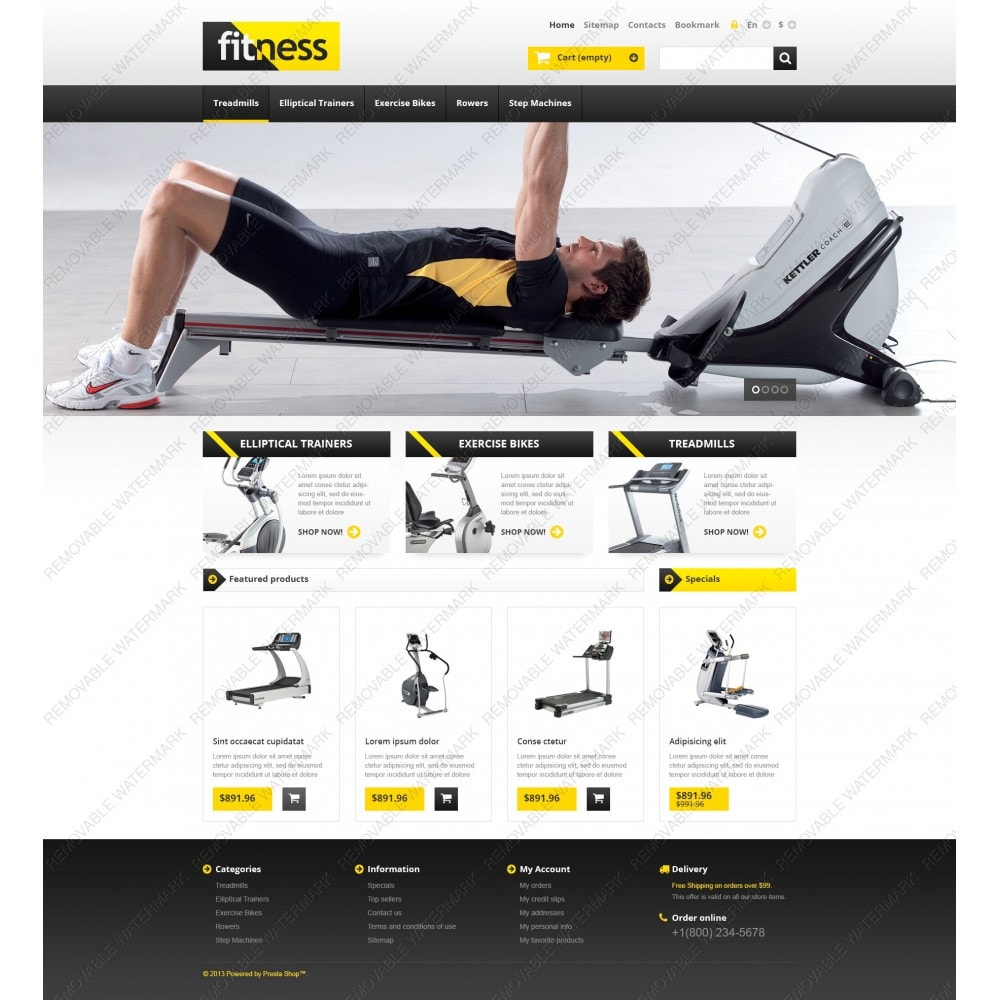 Responsive Fitness Store