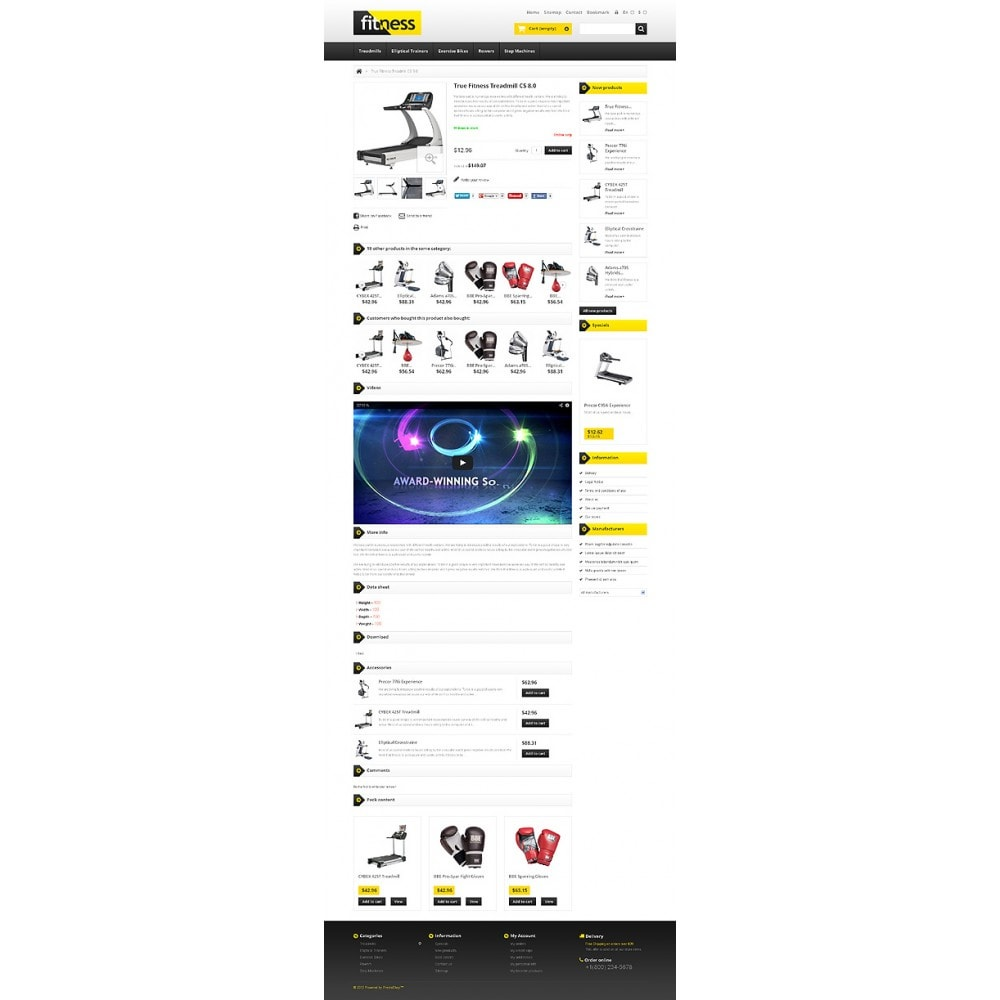 theme - Sports, Activities & Travel - Responsive Fitness Store - 6