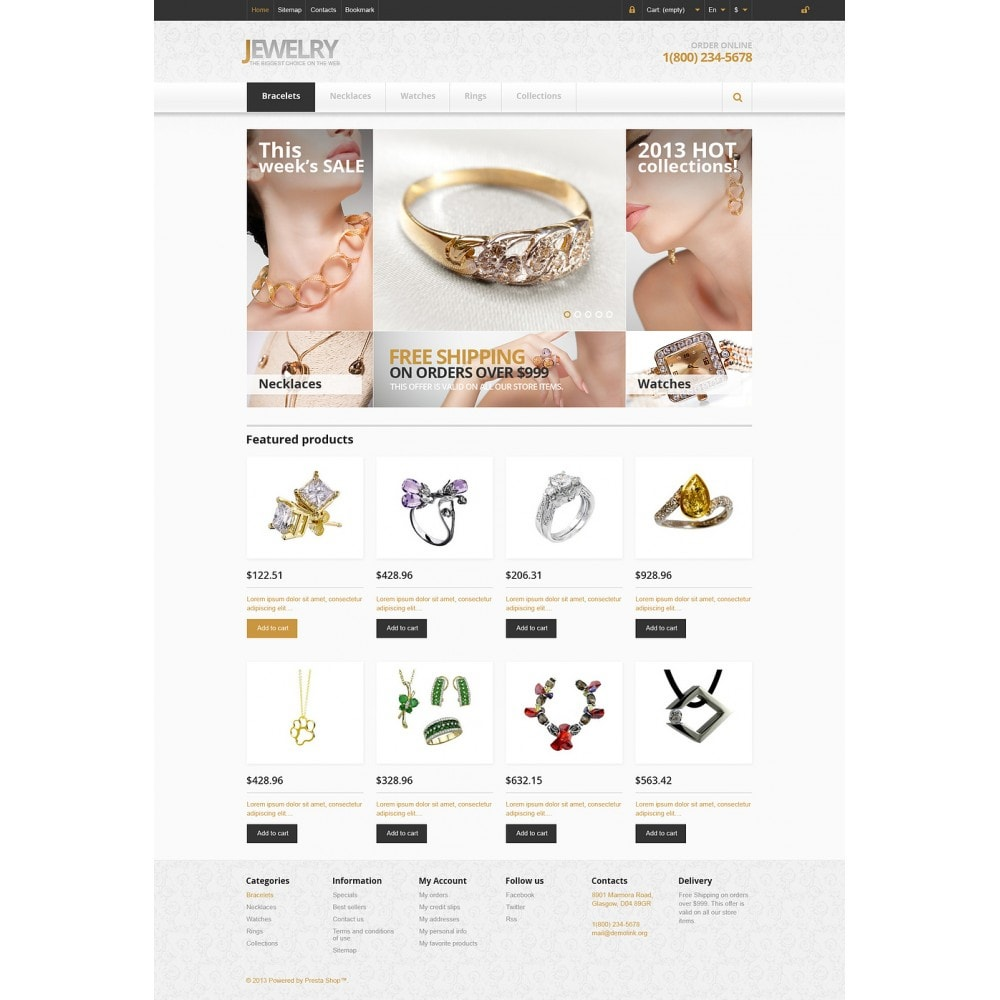 theme - Fashion & Shoes - Responsive Jewelry Store - 2