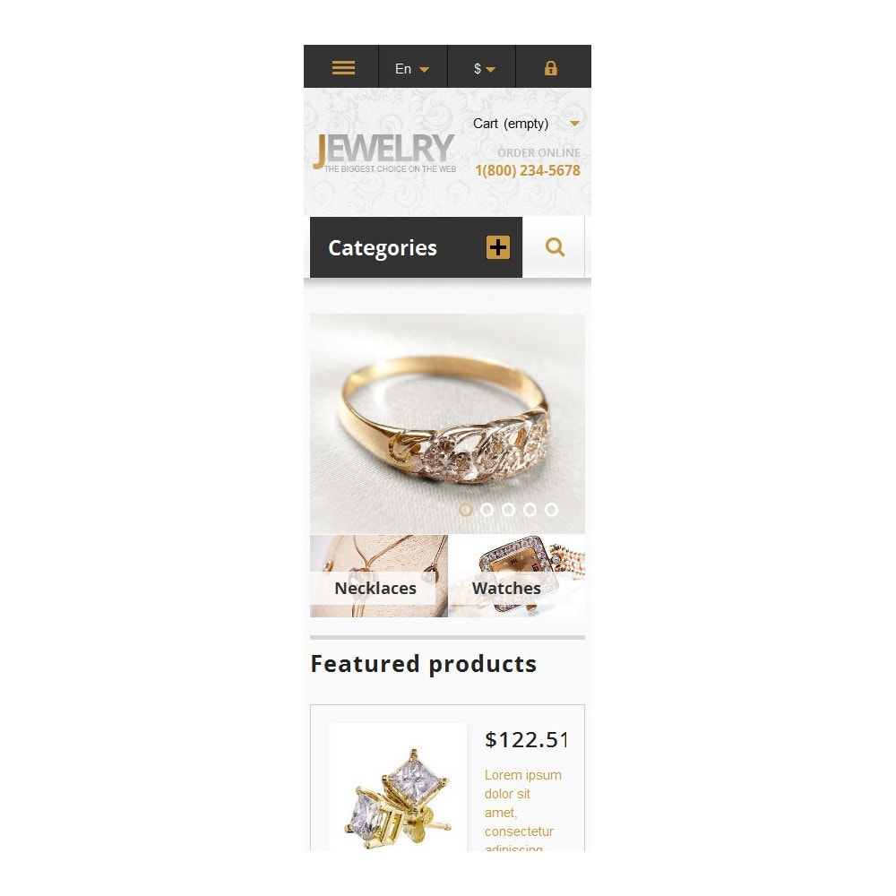 theme - Fashion & Shoes - Responsive Jewelry Store - 6