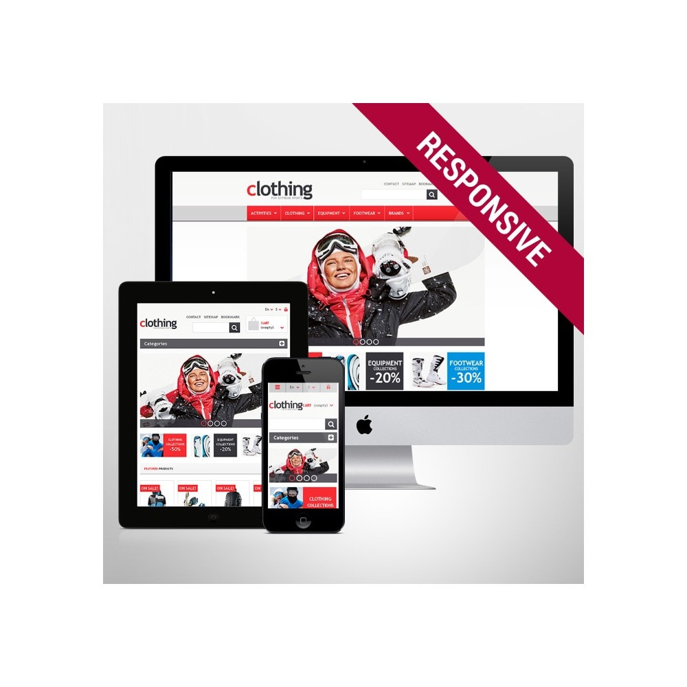 theme - Sports, Activities & Travel - Responsive Clothing Store - 1