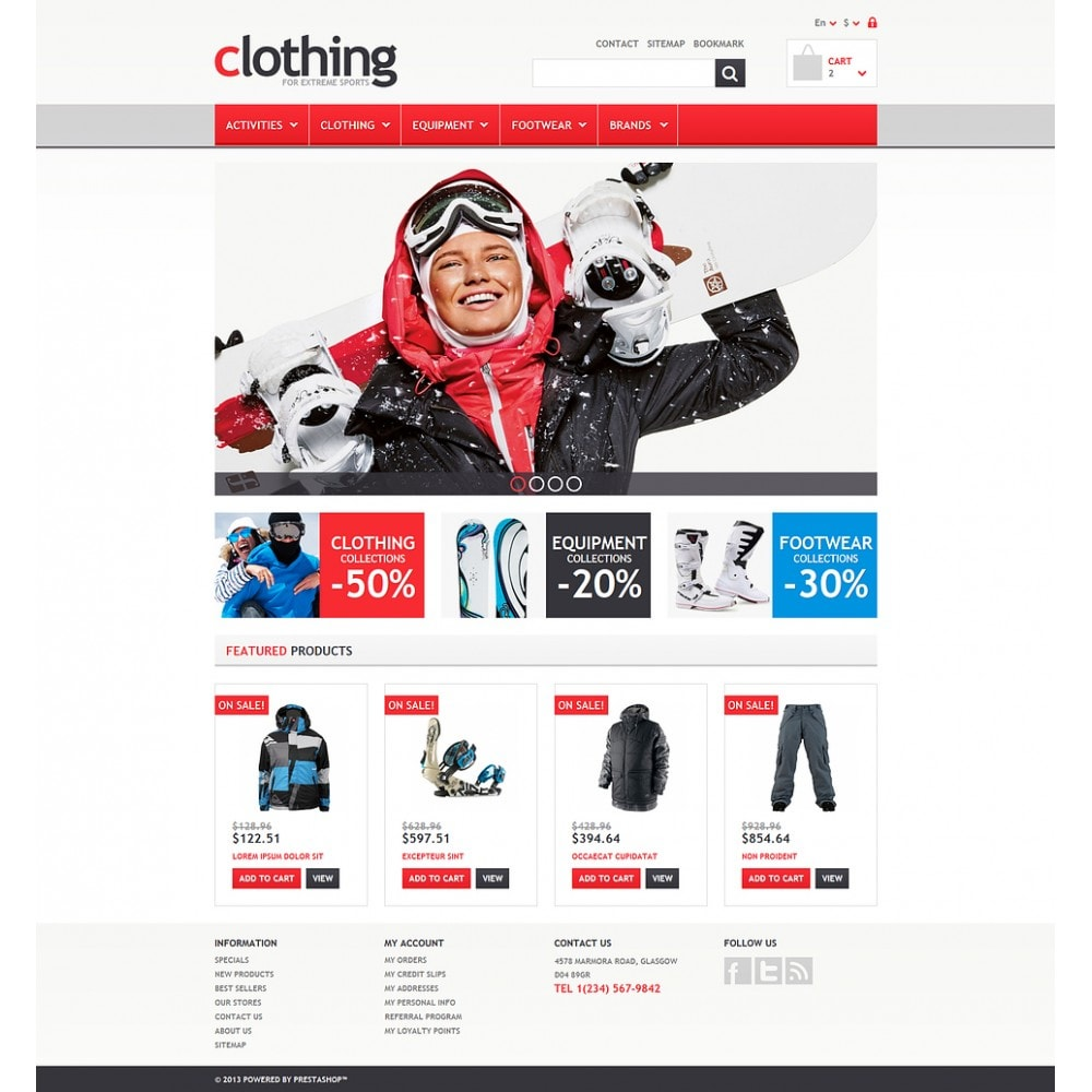theme - Sports, Activities & Travel - Responsive Clothing Store - 2