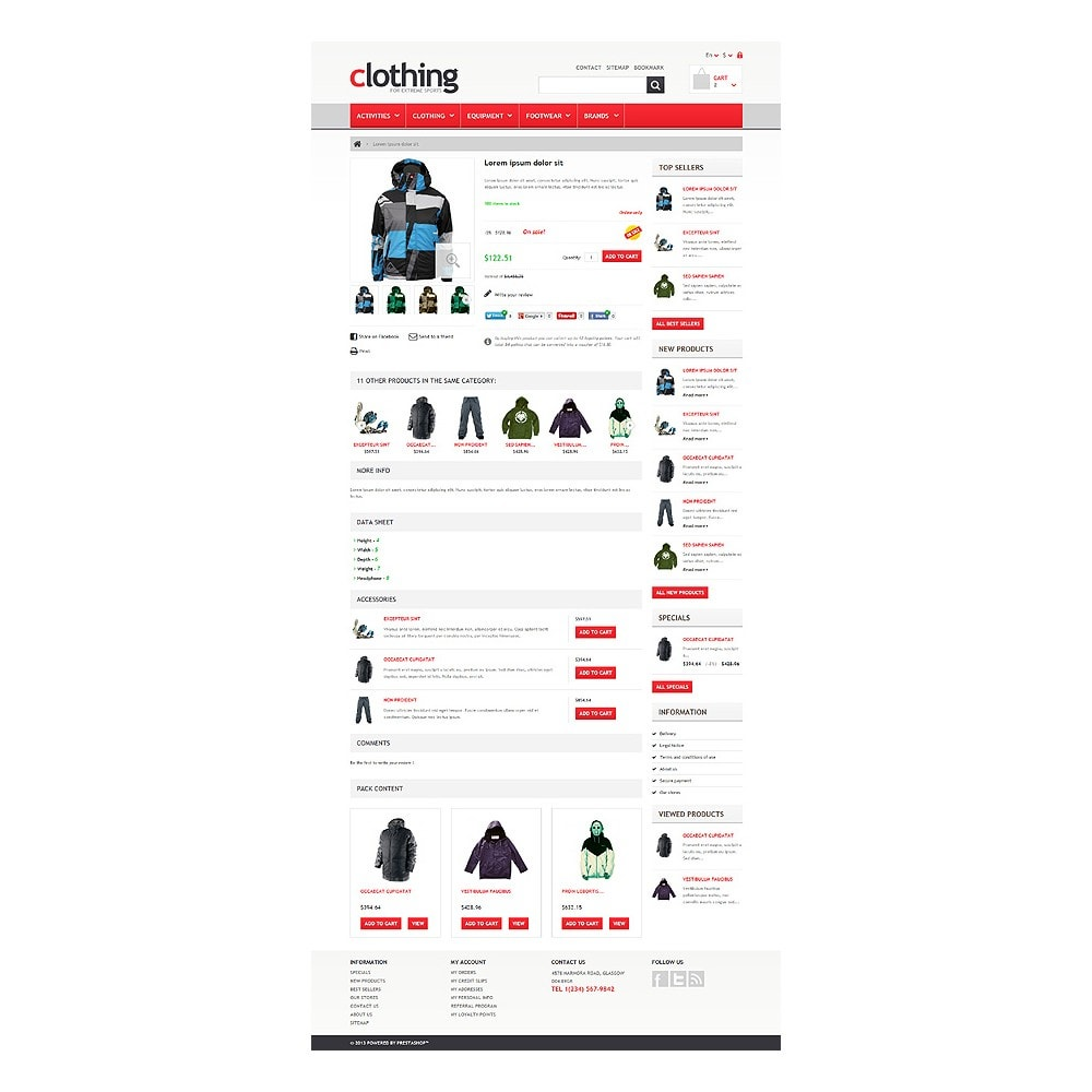 theme - Sports, Activities & Travel - Responsive Clothing Store - 6