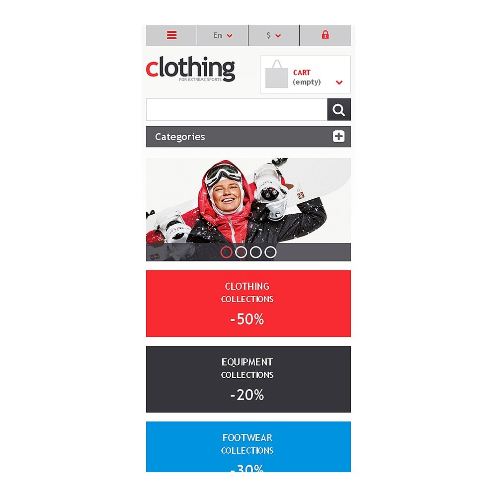 theme - Sports, Activities & Travel - Responsive Clothing Store - 8