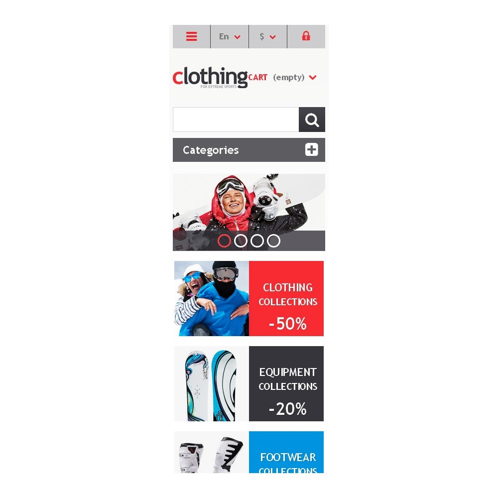 theme - Sports, Activities & Travel - Responsive Clothing Store - 9