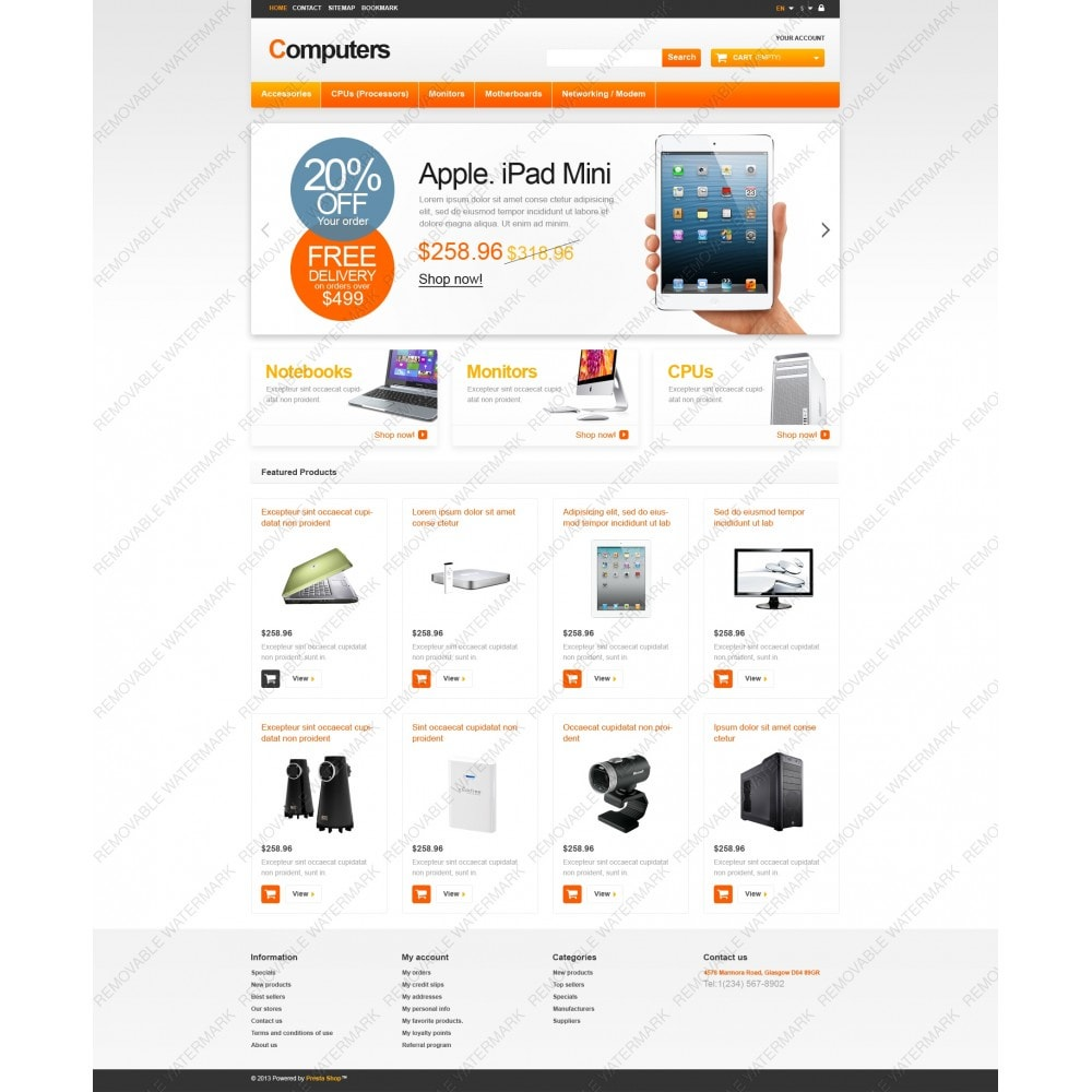 theme - Eletrônicos & High Tech - Responsive Computers Store - 3