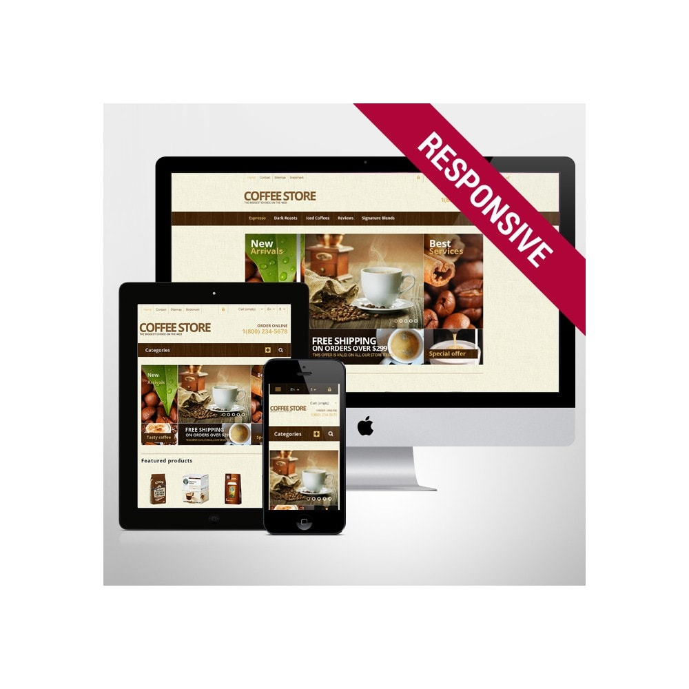theme - Lebensmittel & Restaurants - Responsive Coffee Store - 1