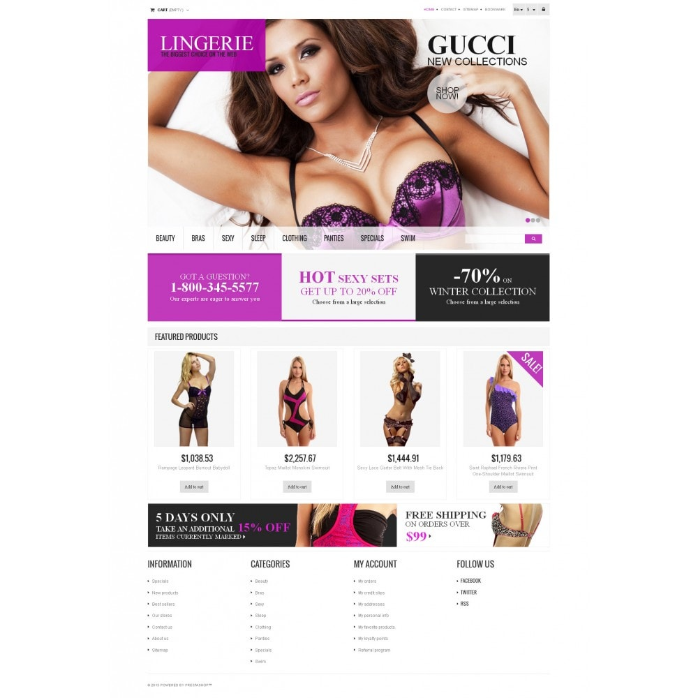 theme - Moda & Obuwie - Responsive Lingerie store - 4