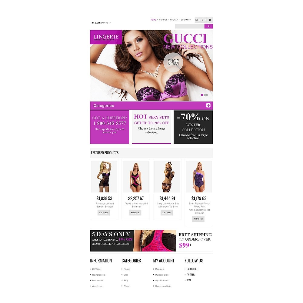 theme - Moda & Obuwie - Responsive Lingerie store - 7