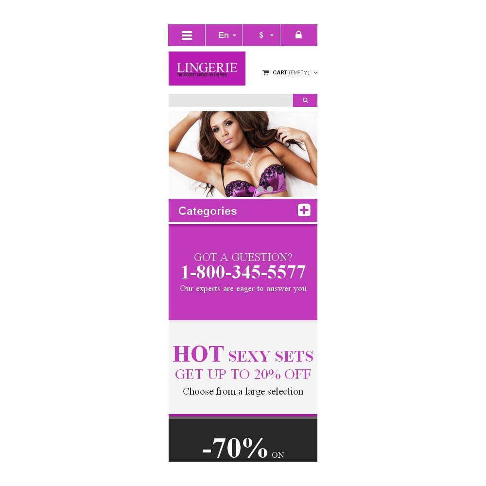 theme - Moda & Obuwie - Responsive Lingerie store - 9