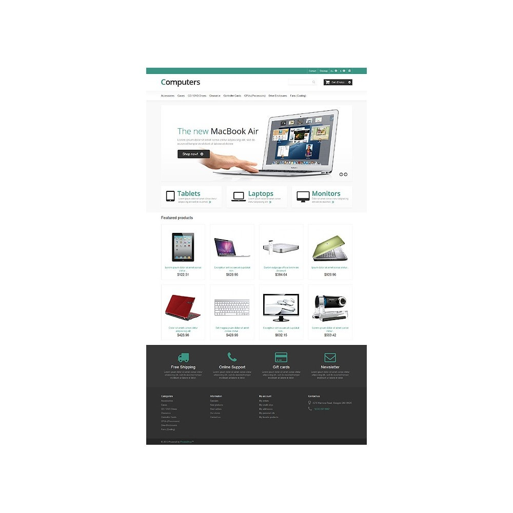 theme - Electrónica e High Tech - Responsive Computers Store - 10