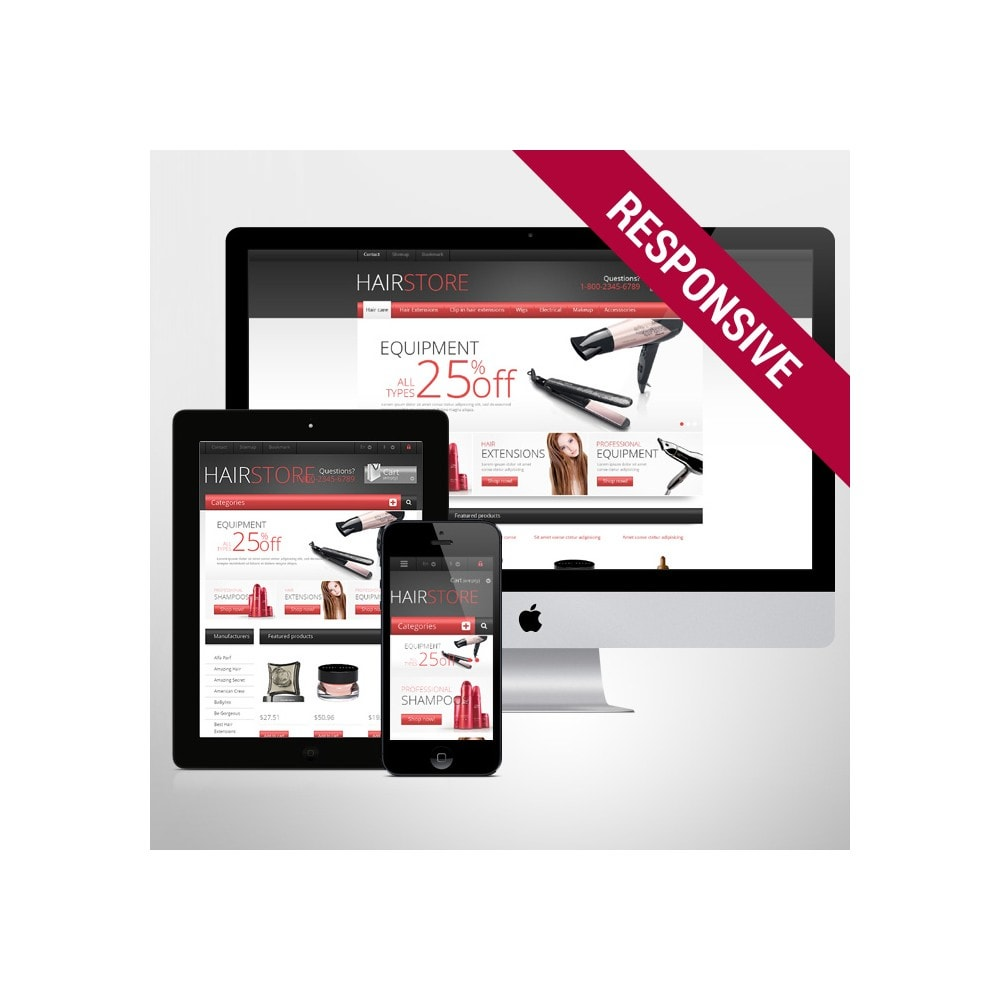 theme - Mode & Schoenen - Responsive Hair Store - 1