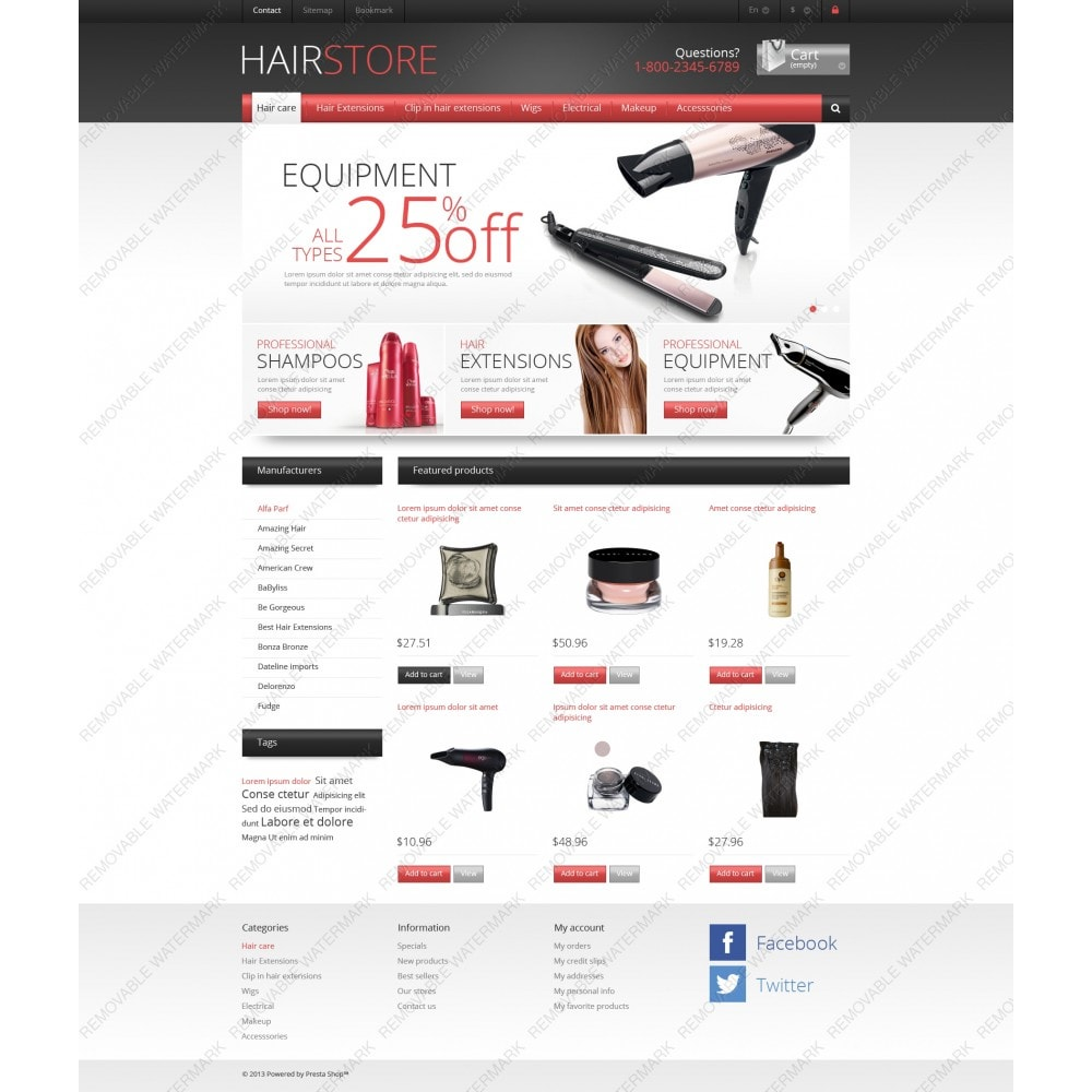 theme - Mode & Schoenen - Responsive Hair Store - 3